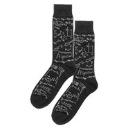 Math Genius Socks in Black and White for Women