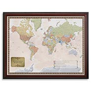 Personalized World Traveler Map Set - Unframed