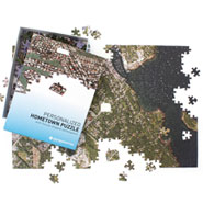 Personalized Hometown Jigsaw Puzzle -  Satellite Image