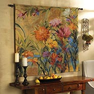 Martha's Choice Wall Hanging Floral Tapestry by Martha Collins