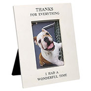 "Memorial Frame for Pet ""Thanks for Everything"" Engraved Marble Resin"