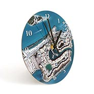 Personalized Hometown Map Clock - 12""