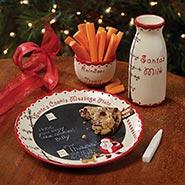 Santa's Message Plate Set
