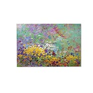 "Pastel Flowers Art Canvas - Printed Canvas, Monet Inspired - 32"" High, 47"" Wide"