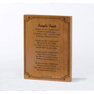 Simple Faith Plaque
