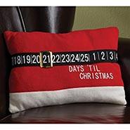 Santa's Belt Countdown Pillow
