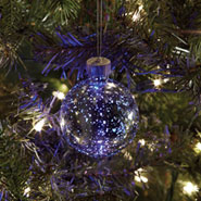 Mercury Glass Ornament with Color-Changing LED - Small