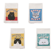 Kitty Cat Cotton Dish Towels Set