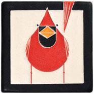 Charley Harper Cardinal Art Tile