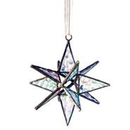 Moravian Star Art Glass Ornament