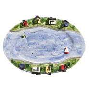 Houses by the Lake Ceramic Platter