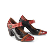 Elena Heeled Mary Jane Shoes in Leather