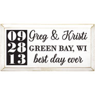 """Personalized """"Best Day Ever"""" Wood Wall Art - Horizontal"""