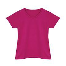 Fuchsia Ladies V-Neck T-Shirt