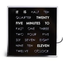 LED Word Clock Tells Time in Words