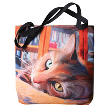 Paws and Whiskers Tote - Orange Tabby