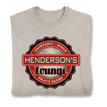 "Personalized ""Your Name"" Bar & Lounge Shirt"