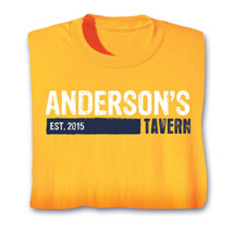 "Personalized ""Your Name & Date"" Tavern Drinking Shirt"