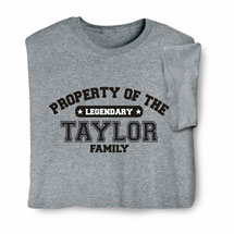 """Personalized Property of """"Your Name"""" Athletic T-Shirt"""