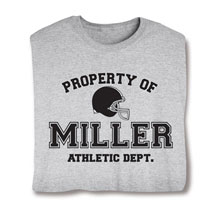 "Personalized Property of ""Your Name""  Football T-Shirt"