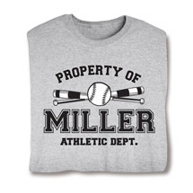 "Personalized Property of ""Your Name"" Softball T-Shirt"