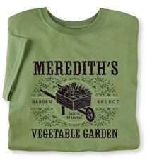 "Personalized ""Your Name"" Vegetable Garden Shirt"