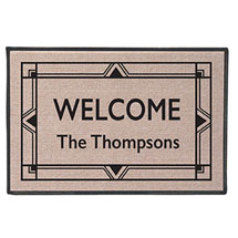 "Personalized ""Your Name"" Doormat - Art Deco"