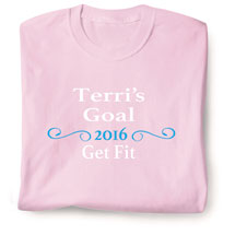 "Personalized ""Your Name""  Goal Shirt - Ornate Swirl Personal Goal"