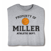 "Personalized Property of ""Your Name"" Basketball T-Shirt"