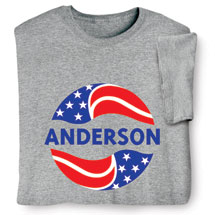 "Personalized ""Your Name"" Election - Red, White, and Blue Shirt"
