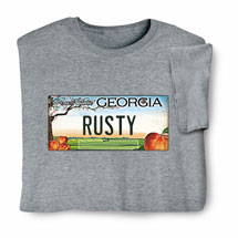 Personalized State License Plate Shirts - Georgia