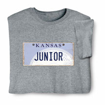 Personalized State License Plate Shirts - Kansas