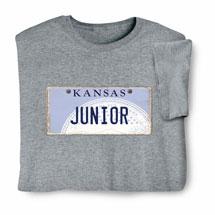 Personalized State License Plate Shirts - Kansas