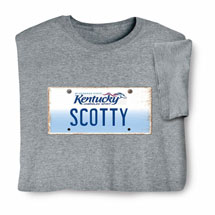Personalized State License Plate Shirts - Kentucky