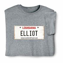 Personalized State License Plate Shirts - Louisiana