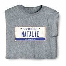 Personalized State License Plate Shirts - Michigan