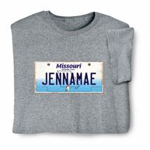 Personalized State License Plate Shirts - Missouri