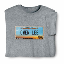 Personalized State License Plate Shirts - North Dakota