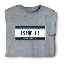 Personalized State License Plate Shirts - South Carolina