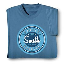 Personalized Your Name Circular Logo Family Reunion Shirt