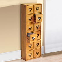 Library CD Storage Cabinet - 12 Drawers