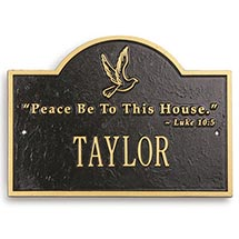 Personalized Peace Plaque