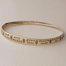 Ave Maria Mobius Bracelet - 14K Gold