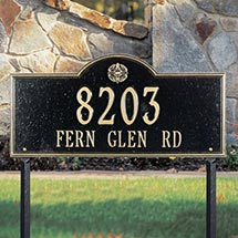 Personalized Tudor Rose Lawn Marker Sign