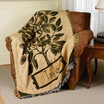 Personalized Family Name Throw