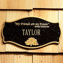 Personalized Emily Dickinson House Plaque
