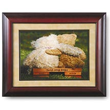 Personalized Teddy Bears Framed Print
