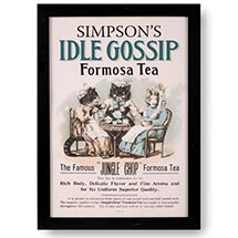 Personalized Idle Gossip Framed Print