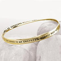 Psalm 23 Mobius Bracelet - 14K Gold