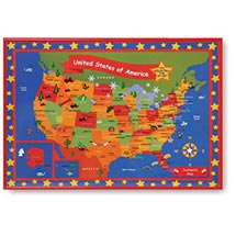 Child's Map Of The U.S.A. - Framed & Personalized